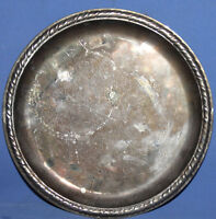VINTAGE FLORAL SILVER PLATED PLATE TRAY PLATTER