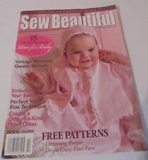 VINTAGE ISSUE~SEW BEAUTIFUL~Jan/Feb '08~Sweater Embellishment,Christening Romper
