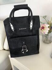 Dr Martens Large Black Leather Backpack