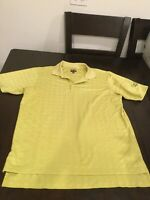 Men's Adidas Climacool Yellow Polo Golf Shirt Coachmans Golf Resort Medium