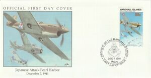 MARSHALL ISLAND 7 DECEMBER 1991 JAPANESE ATTACK PEARL HARBOUR FIRST DAY COVER c