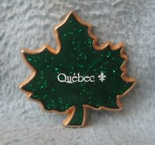 Quebec Canada Maple Leaf Metal Magnet Souvenir Travel Refrigerator MB5