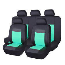 Delux PU leather car seat covers mint green easy clean bench split 40/60 60/40