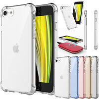 For iPhone SE 2020 (2nd Generation) Clear Case 7 8 Silicone Shockproof Cover