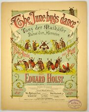 The June-bugs Dance Polka Edward Holst 1888 Anthropomorphic Insects Sheet Music