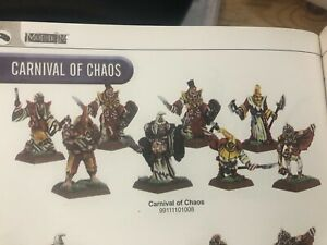 Warhammer Mordheim Carnival of Chaos BRAND NEW in box metal OOP COMPLETE!