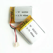 2 x 3.7V 450mAh Lipo Rechargeable Battery For MP3 MID DVD GPS bluetooth 602530