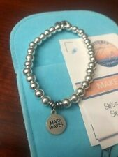 T JAZELLE BRACELET HEMATITE MAKE WAVES SILVER CHARM- W POUCH!- SOLD OUT!!