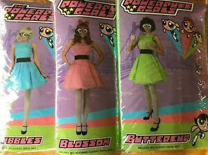 Lot 3 Powerpuff Girls Halloween Costumes Buttercup Blossom Bubbles Adult Teen