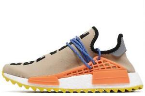 Adidas Pharrell x NMD Tan/Orange/Blue Sz 8 AC7361 Fashion Shoes