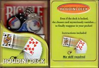 Houdini Deck Bicycle Playing Cards Poker Size USPCC Escape Close Up Magic Trick