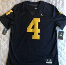 RARE NEW Michigan Wolverines Football Jersey #4 Embroidered Limited Harbaugh L