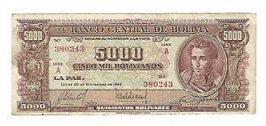 Bolivia - 5000 Bolivianos, 1945