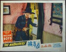 Western Hopalong Cassidy Original 1940s Lobby Card William Boyd The Marauders
