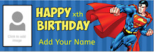 Personalised Birthday Banners Custom Party Superman Batman Spiderman