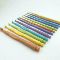 12pcs 2-10mm Plastic Crochet Hooks Kit Knitting Needles Yarn Tools H9Q0 Cr C4O6