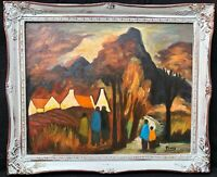 1960s Irish Impressionist Landscape Oil Painting on canvas signed Markey