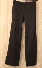 White Stuff Wool Blend Button Wide Leg Herringbone Blue Trousers  8 - 12 £55 New