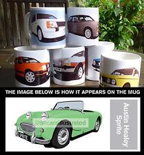 AUSTIN HEALEY SPRITE CAR ART MUG. PERSONALISE IT!