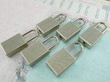 (Lot de 6) Mini cadenas Matt Silver Color Small Petite Serrure de Coffre avec Clés-Neuf