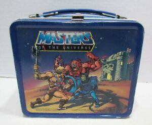 MASTERS OF THE UNIVERSE 1983 METAL LUNCHBOX LUNCH BOX by ALADDIN MOTU HE-MAN