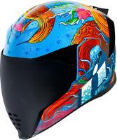 Icon Airflite Inky Blue Full Face Premium Street Motorcycle Helmet Adult Sizes