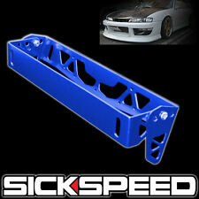 LICENSE PLATE TILT RELOCATION BRACKET FRONT BUMPER BILLET MOUNT HOLDER BLUE P1