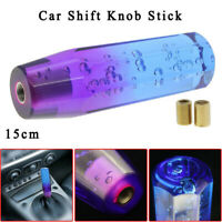 150mm Quality Car Shift Knob Stick Crystal Bubble Purple Blue Throw Gear Shifter