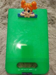 Lisa Frank clipboard storage art case, green sparkle.  Be Creative!