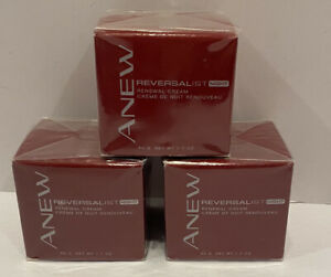 Sealed Lot Of 3 Avon Anew Reversalist Night Renewal Cream 1.7 Oz Dated 2009
