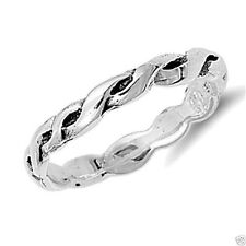 925 Best Price Jewelry Size 2 Usa Seller Braid Toe Ring Sterling Silver