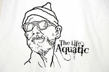 BILL MURRAY Life Aquatic Steve Zissou T-SHIRT - MEDIUM - White Wes Anderson