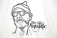 BILL MURRAY Life Aquatic Steve Zissou T-SHIRT - MEDIUM - White Wes Anderson