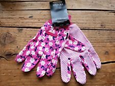 Briers Cotton Grip Pink Floral Gardening Multipurpose House Gloves Medium BNWT