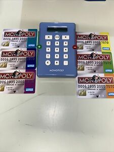 Monopoly Game Pieces Credit Card Reader and 6x Credit Cards