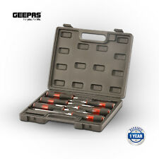 Geepas 6 Professional Screwdriver Set Slotted & Phillips Hardened Magnetic Tips