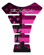Fallen Soldier Pink Miliatry Motorcycle Gas 3D tank pad tankpad protector Decal