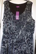 F & F True sleeveless dress in leopard print with fishtail hemline