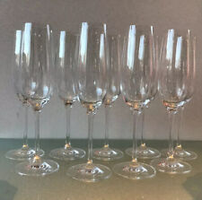 Set of 9 Classic Crystal Champagne Flutes