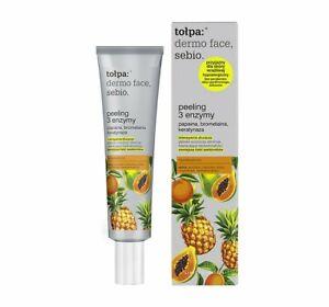 Tolpa Sebio Enzyme Face Peel 3 Enzymes Papain Peeling Scrub Enzymy 40ML Dermo