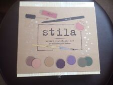 Stila Artist Set Incl Eyeshadow Palettes Lip & Cheek Eyeliner Lipstick Brush