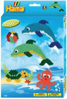 Hama Beads Dolphin Making Craft Set - 2000 Midi Ironing Beads for Children