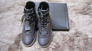 ECCO NIB Exostrike Bowmar 2.0 Leather Gray(Wild Dove)Ankle Boots US 8-8.5 EUR 42