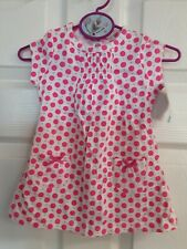 Child Of Mine By Carter's 2-Pc Neon Pink Dotted Dress & Bloomers Size 3-6 Mos.