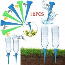 More details for 12x automatic self watering spikes system garden home plant pot water-er tools