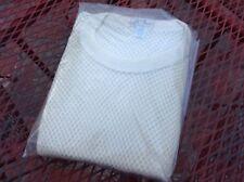 NOS Vintage L.L. BEAN Mesh T Shirt Net Fishnet Top Wool blend sz LARGE 42-44 NEW