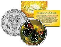METAL MARK BUTTERFLY JFK Kennedy Half Dollar US Colorized Coin