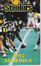 1997 PITTSBURGH STEELERS NFL POCKET SCHEDULE - HOFer DERMONTTI DAWSON! - LOOK!