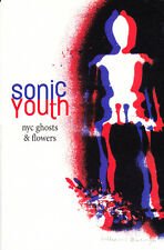 WILLIAM BURROUGHS THURSTON MOORE SONIC YOUTH GHOSTS  FLOWERS SIGNED POSTCARD