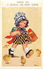 arthur butcher card from the 1930s. wishing you a cheerful and happy easter